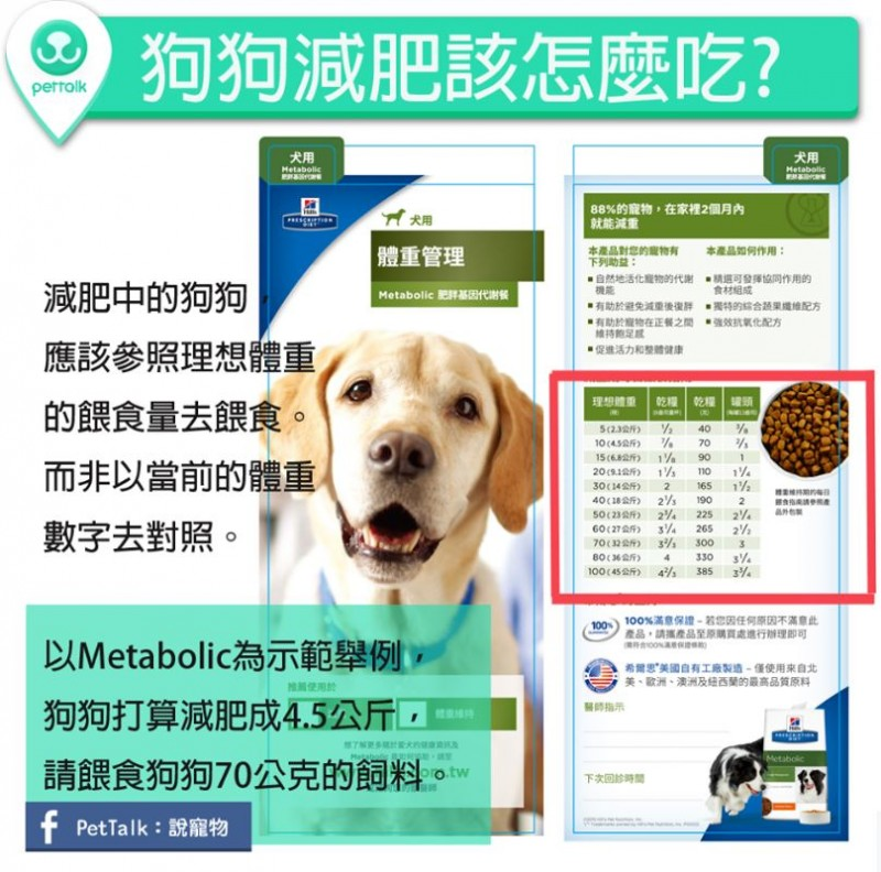 【PETTALK小學堂】狗狗減肥該怎麼吃?以Metabolic為例