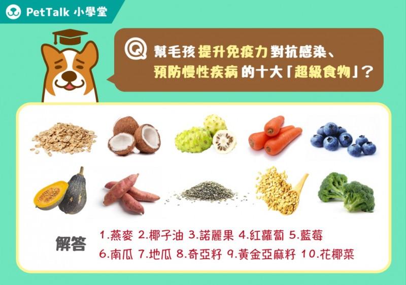 【PETTALK愛寵鮮食堂】2017年愛寵十大超級食物